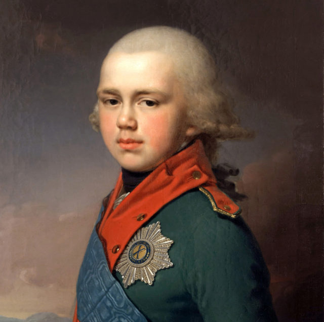 Constantin Pavlovich - grand duke of Russia. 3/4 portrait.