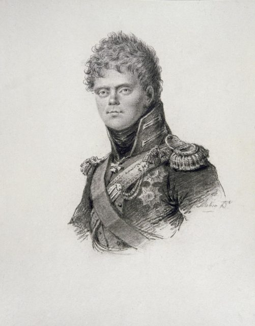 Constantin Pavlovich - grand duke of Russia. Drawing.