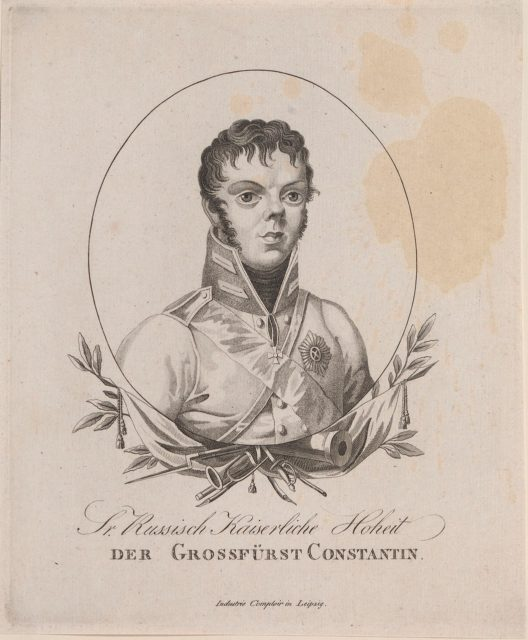 Grossfurst Constantin Pavlovich - grand duke of Russia