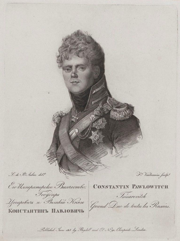 Konstantin Pavlovich - grand duke of Russia Portrait