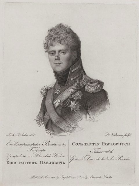 Konstantin Pavlovich - grand duke of Russia Portrait