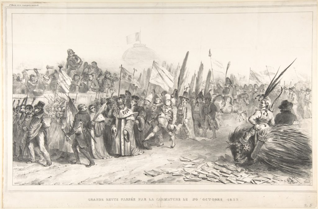 The Grand Review of the Juste-Milieu Passing La Caricature, October 30, 1832 (Grand revue passée par la caricature le 30 Octobre 1832)