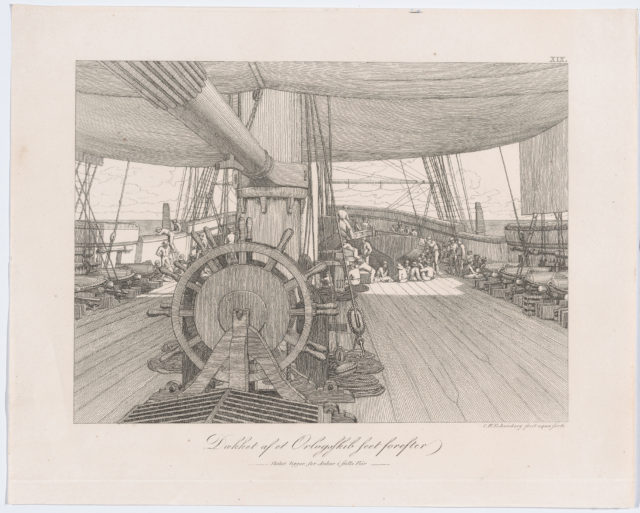 Deck of a Warship