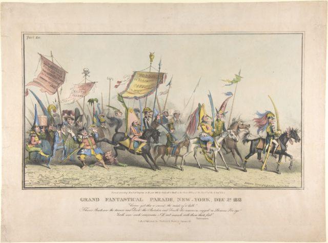 Grand Fantastical Parade, New-York, December 2, 1833