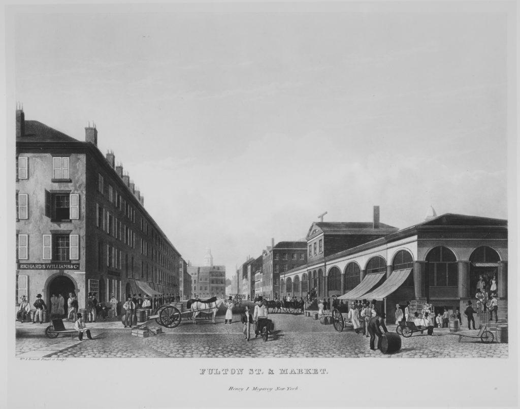 Fulton Street & Market, New York (The Bennett View of Fulton Street)
