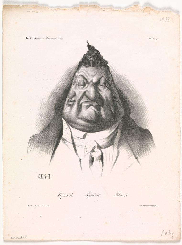 The Past, the Present, and the Future (Le passé – Le présent – L'Avenir), published in La Caricature, no. 166, Jan. 9, 1834