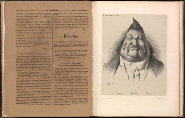 The Past. The Present. The Future (Le passé. Le présent. L'avenir), from La Caricature, plate 349