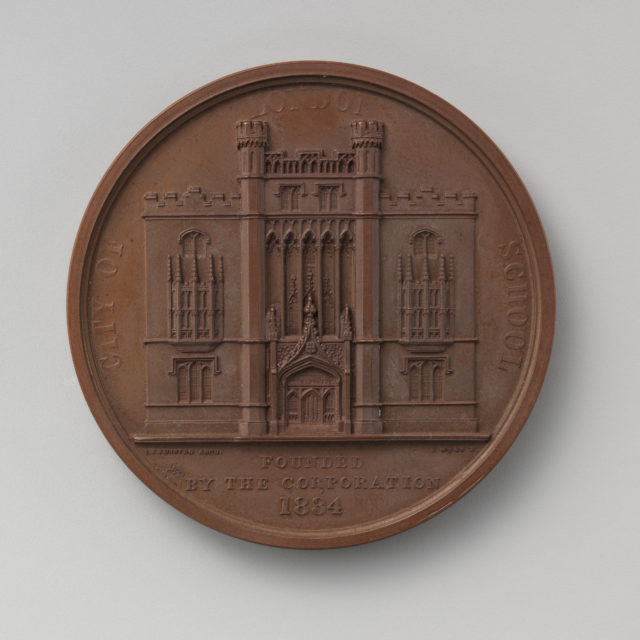"To Commemorate the Founding of the Free ""City of London School"" in 1834"