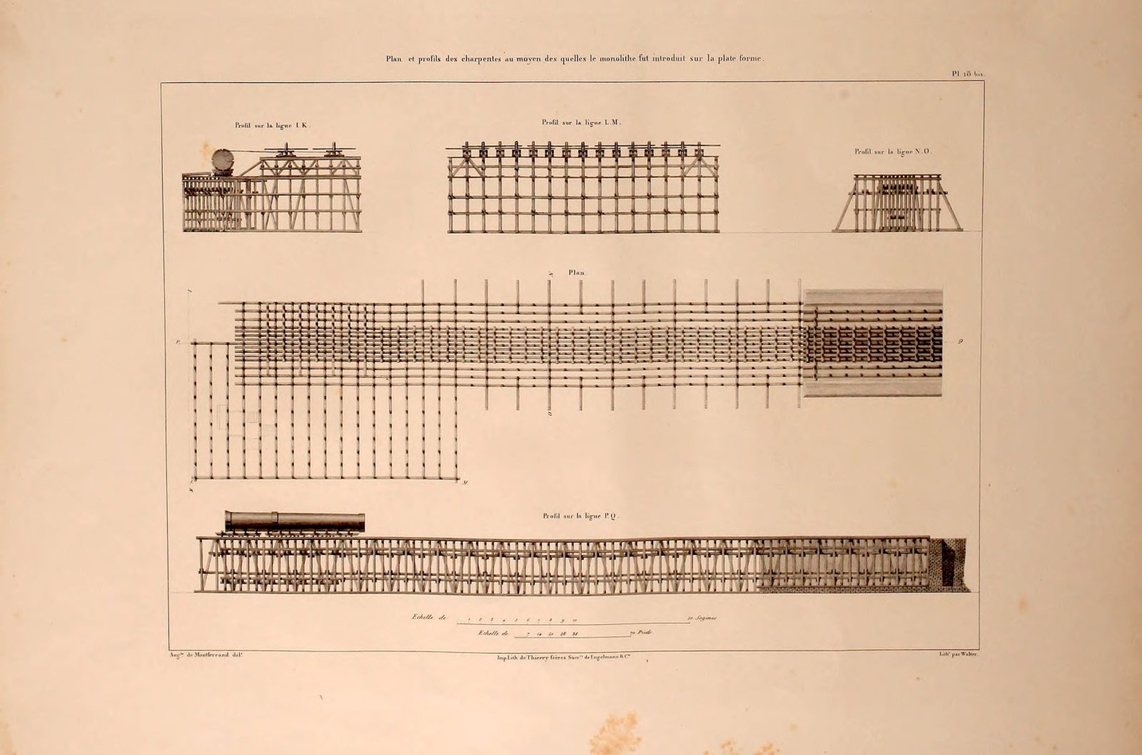 Ramp. Alexander Column, St. Petersburg. Montferrand, Auguste (1786 - 1858)