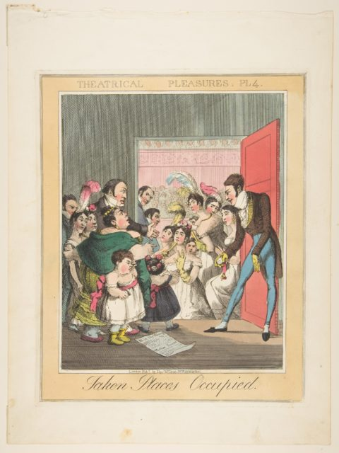 Theatrical Pleasures, Plate 4: Taken Places Occupied