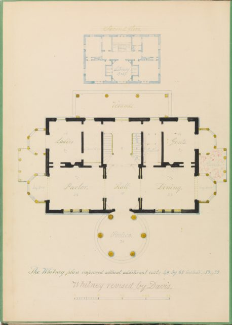 House for Henry Whitney, New Haven, Connecticut (revised plan)