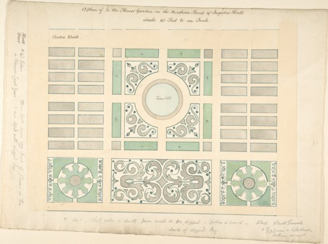 Plan of the Flower Garden on the Northern Front, Ingestre Hall, Staffordshire