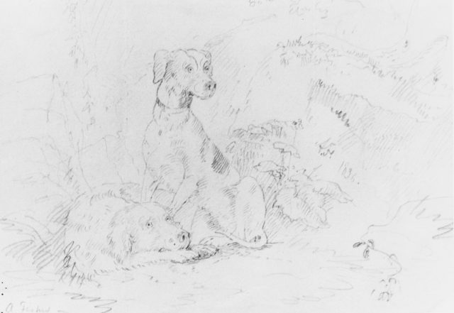 Scene with Dogs (from McGuire Scrapbook)