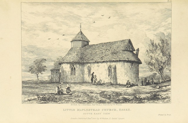 "Architecture from ""The History and Antiquities of the Round Church at Little Maplestead, Essex; ... preceded by an historical sketch of the Crusades"""