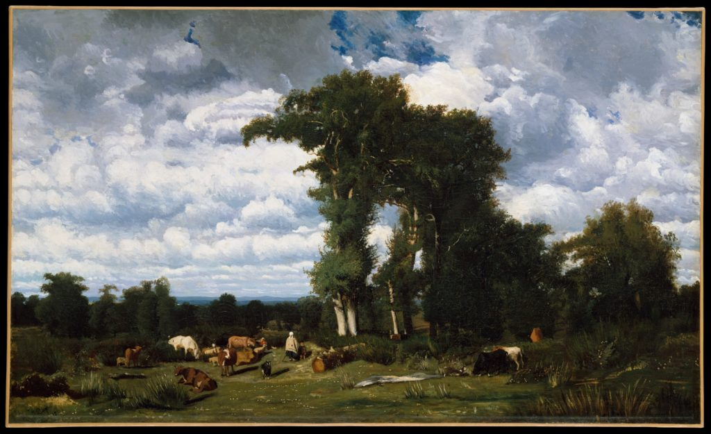 Landscape with Cattle at Limousin