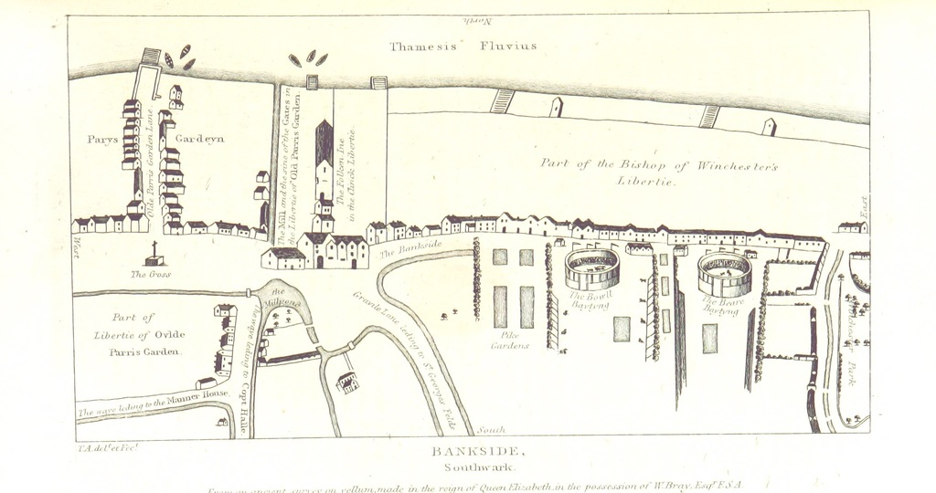 """map from """"The History and Antiquities of London, Westminster, Southwark, and parts adjacent, etc"""""""