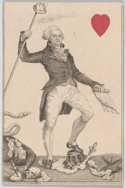 Knave (Robespierre from France) from Court Game of Geography