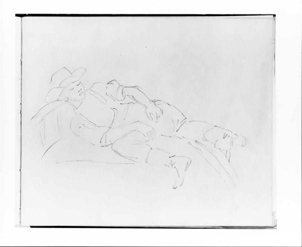 Man Sleeping in a Rowboat (from Sketchbook)