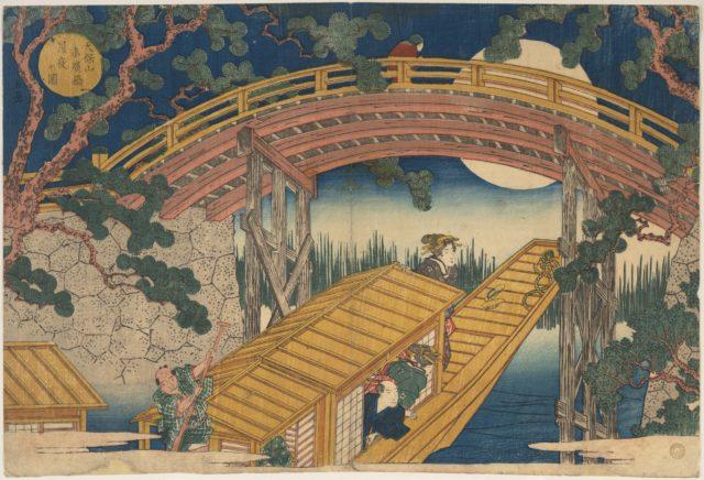 Moonlight View of Suihiro Bridge, Tempozan