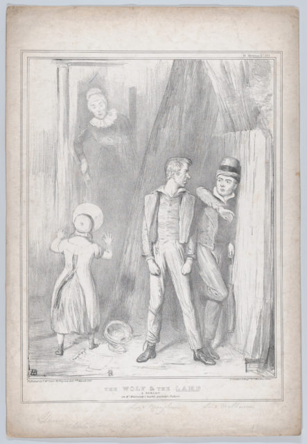 The Wolf & the Lamb – A Parody on Mr. Mulready's highly popular Picture