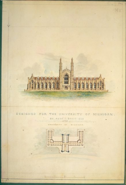 University of Michigan (elevation and plan)