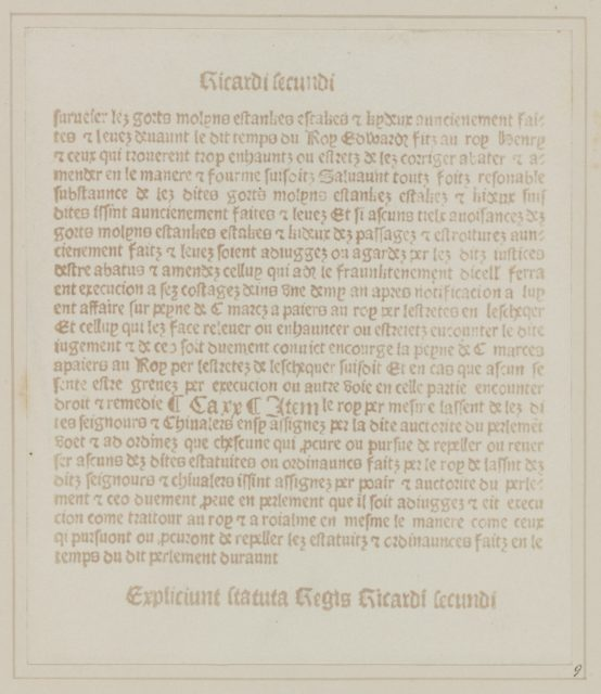 Facsimile of an Old Printed Page