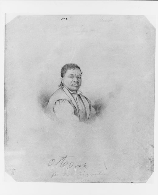 The Tahitian Chief Otore (from McGuire Scrapbook)