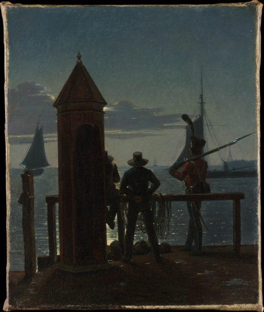 View from the Citadel Ramparts in Copenhagen by Moonlight