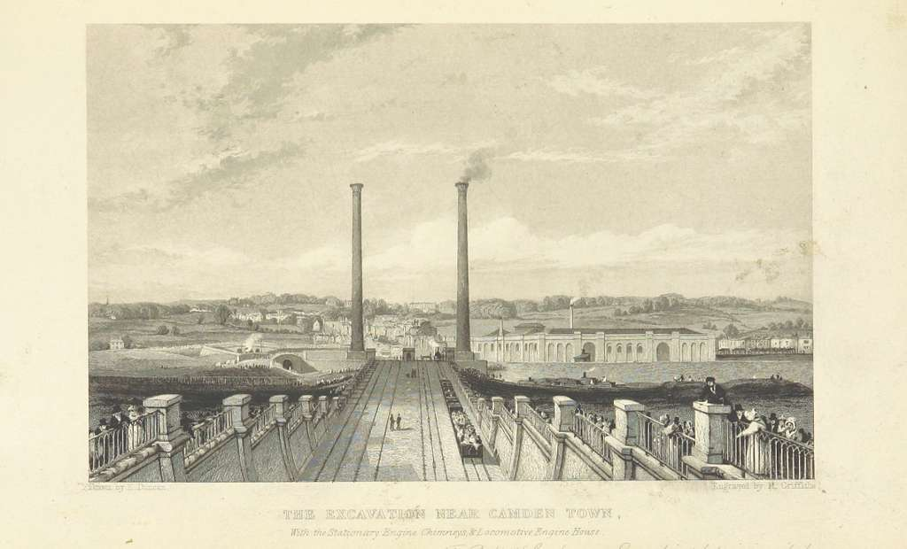 Roscoe L&BR(1839) p063 - The Excavation near Camden Town