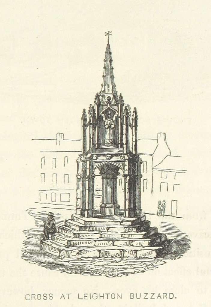 Roscoe L&BR(1839) p101 - Cross at Leighton Buzzard