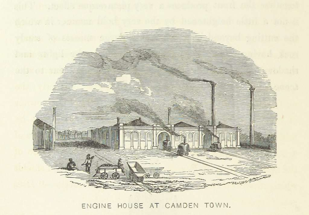 Roscoe L&BR(1839) p102 - Engine House at Camden Town