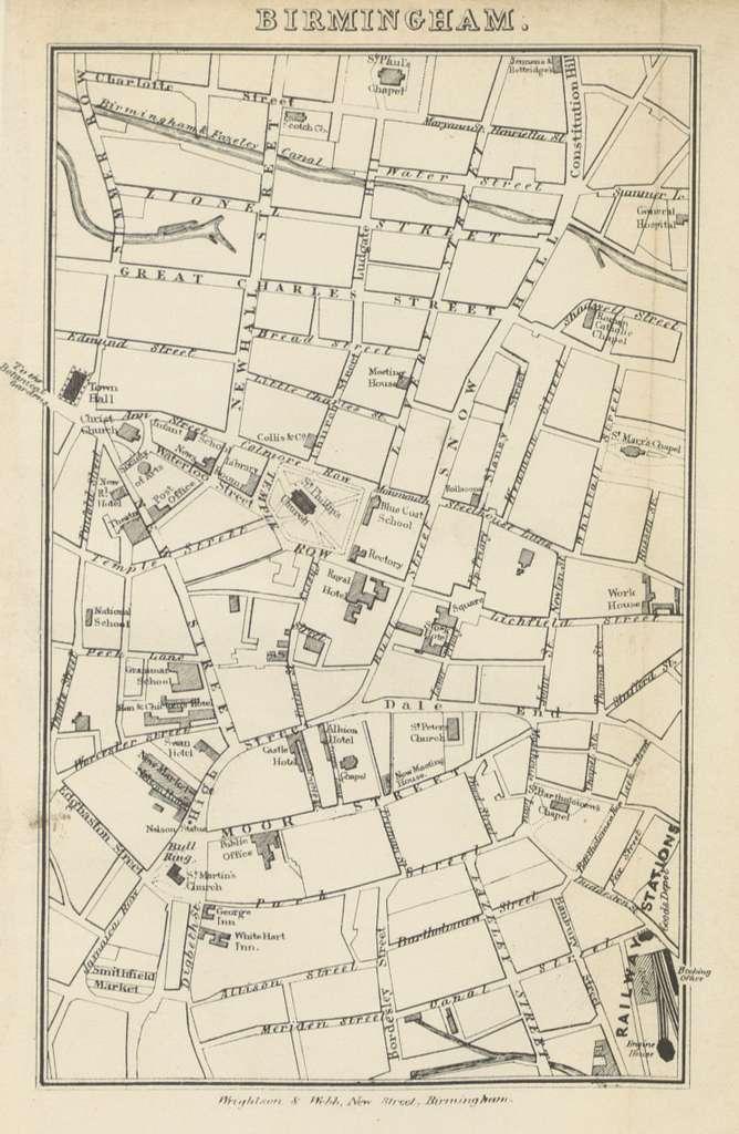 Roscoe L&BR(1839) p231 - Map of Birmingham