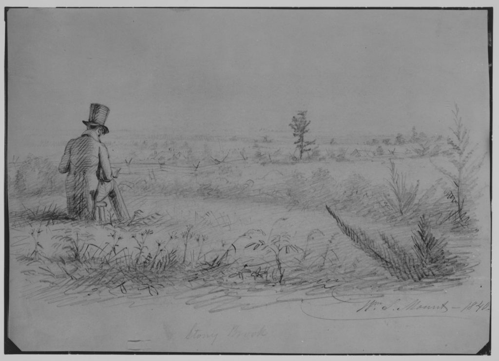 Artist Sketching at Stony Brook, New York (from McGuire Scrapbook)