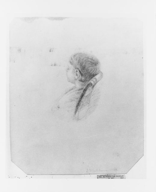 Head of a Sleeping Child (from McGuire Scrapbook)