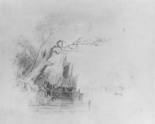 Landscape with Boats (from McGuire Scrapbook)