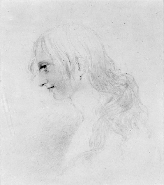 Head of a Girl (from McGuire Scrapbook)