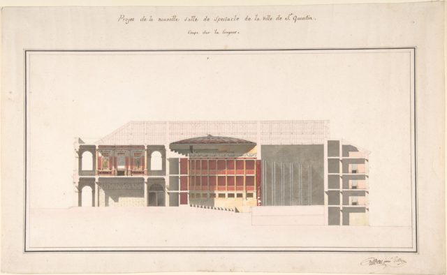 Project for the New Theater at St. Quentin (Aisne) - Section