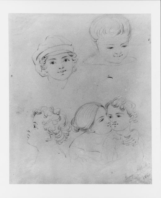 Sketches of Heads (from McGuire Scrapbook)