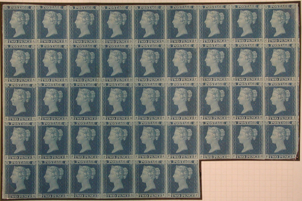 """Two Penny Blue"" postage stamps"