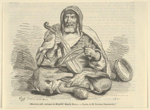 Jewish Musician in Mogador Costume, Morocco