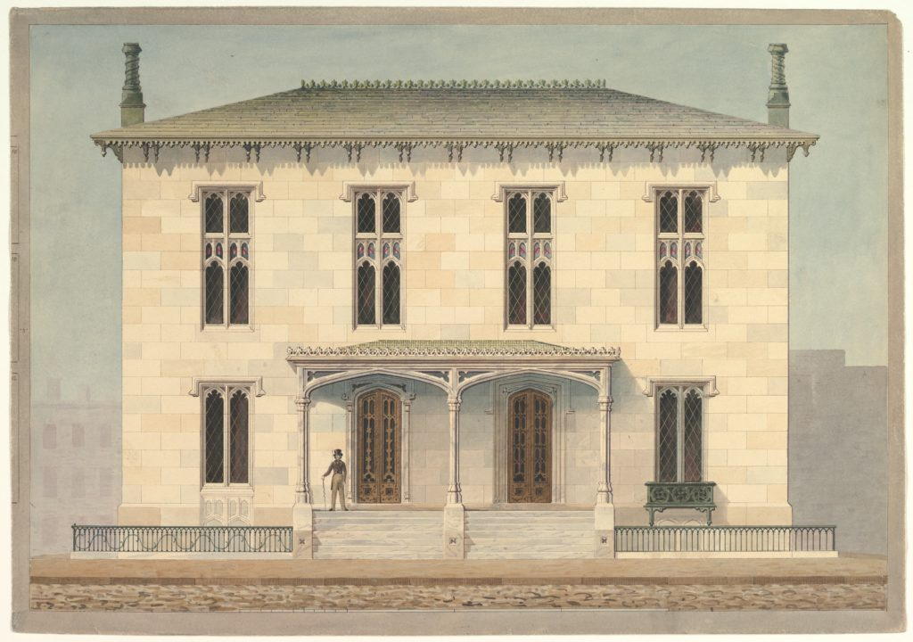 Design for a Double Townhouse (front elevation)