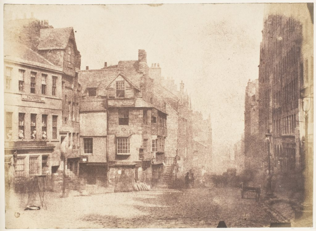 Edinburgh. The High Street with John Knox's House