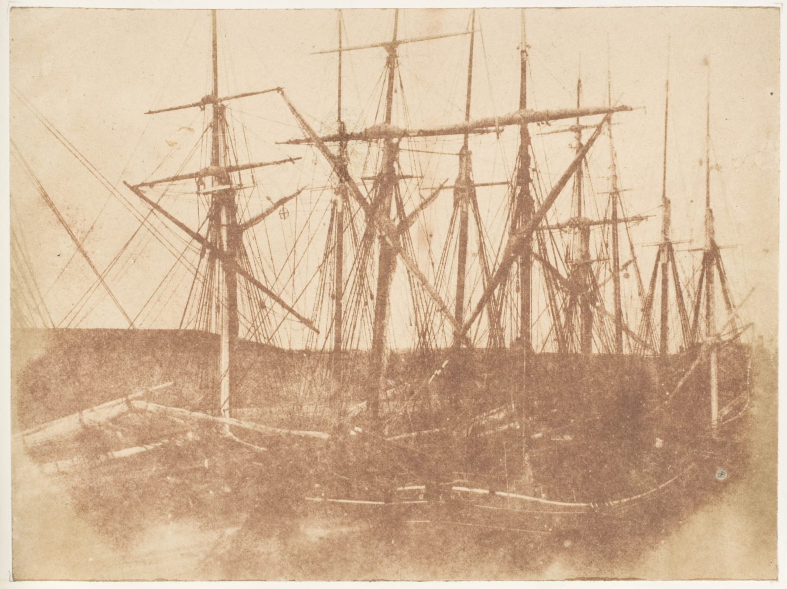 St. Andrews (?). Ships in the Harbor