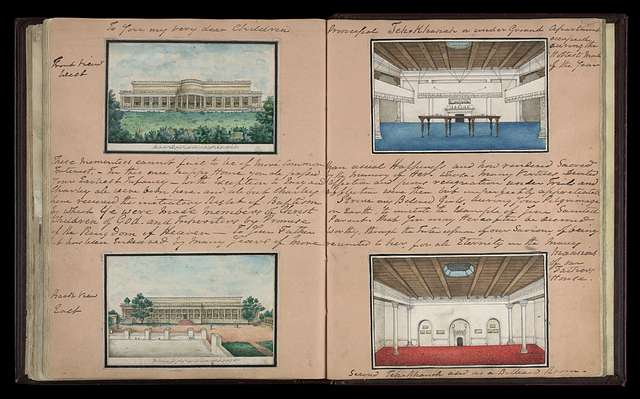 Different views of the Metcalfe House, Delhi, 1843