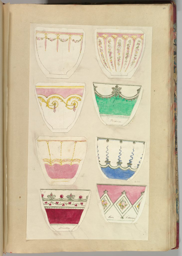 Eight Designs for Decorated Cups