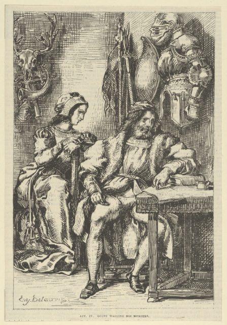 Goetz von Berlichingen Writing His Memoirs