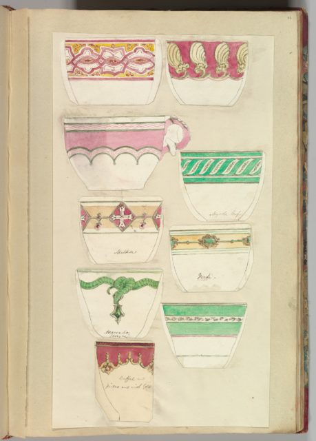 Nine Designs for Decorated Cups