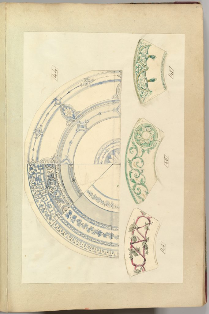Six Designs for Decorated Plates