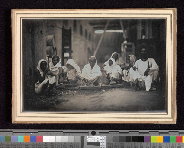 [Women Grinding Paint, Calcutta]