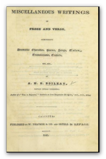 BOILEAU(1845) Title